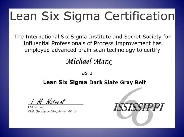 Moresteamand 146 s new lss certification for Six sigma black belt certificate template