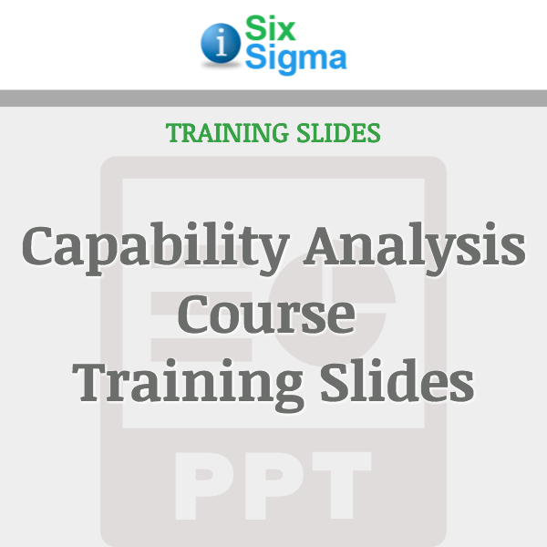 Capability Analysis Course Training Slides