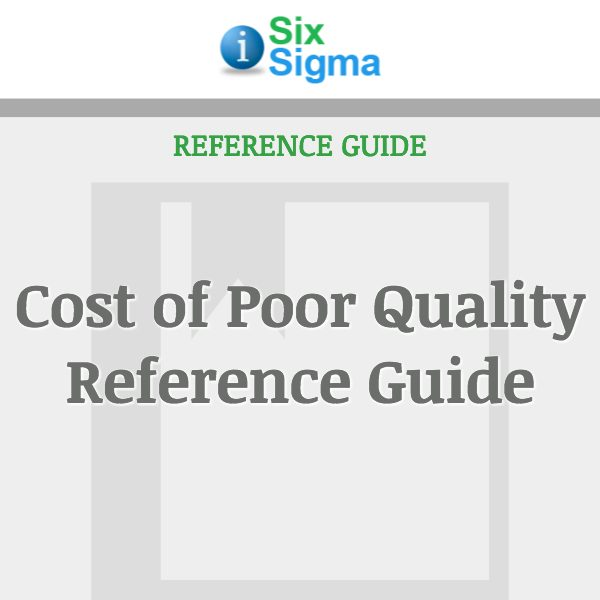 Cost of Poor Quality Reference Guide