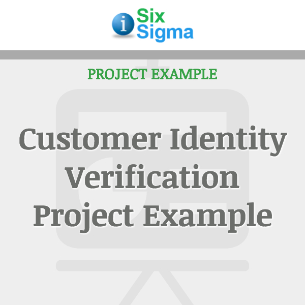 Customer Identity Verification Project Example
