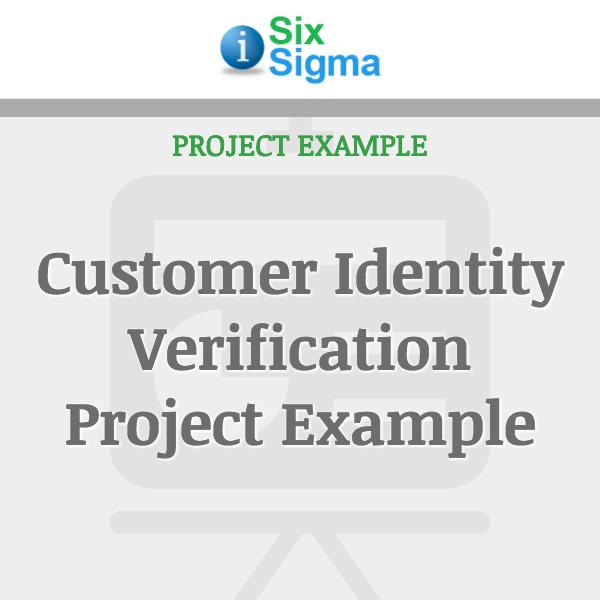 Customer Identity Verification Project Example