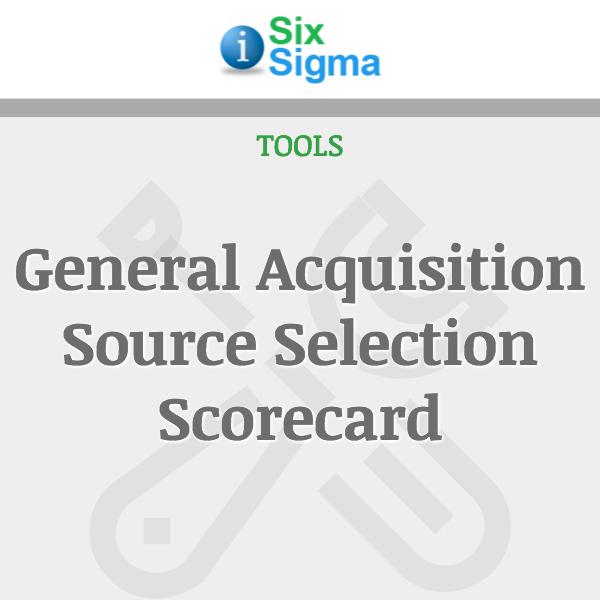General Acquisition Source Selection Scorecard