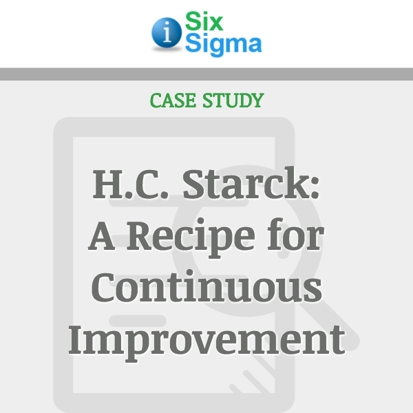 H.C. Starck: A Recipe for Continuous Improvement