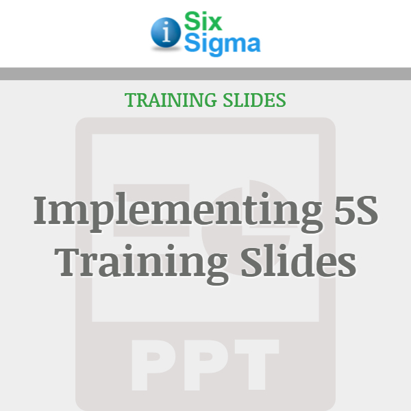 Implementing 5S Training Slides