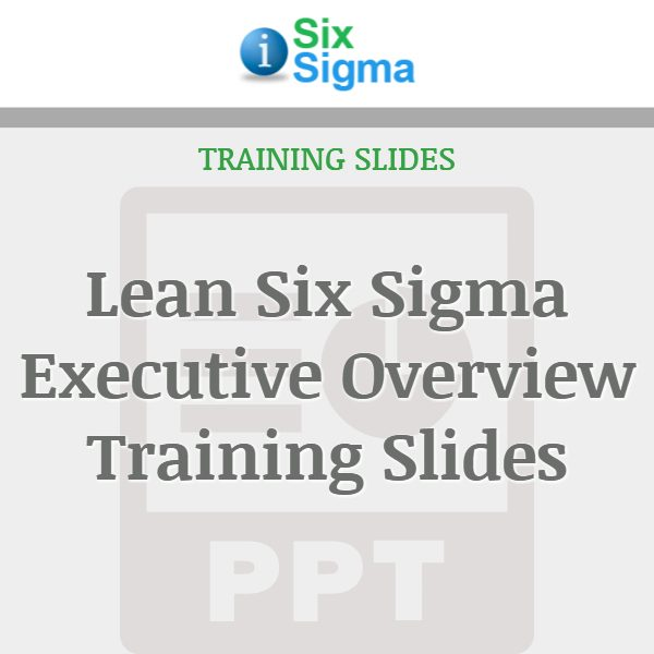 Lean Six Sigma Executive Overview Training Slides