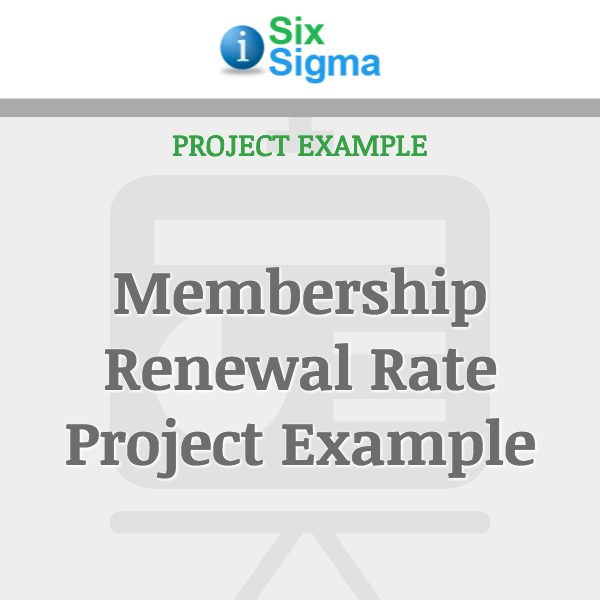 Membership Renewal Rate Project Example