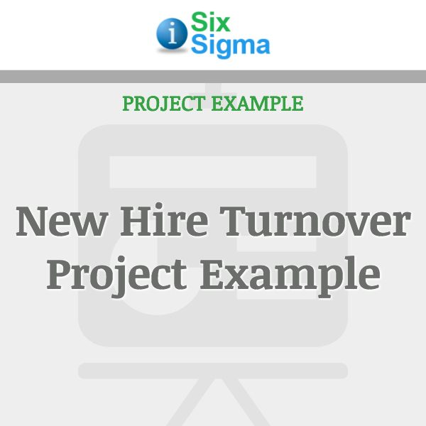 New Hire Turnover Project Example