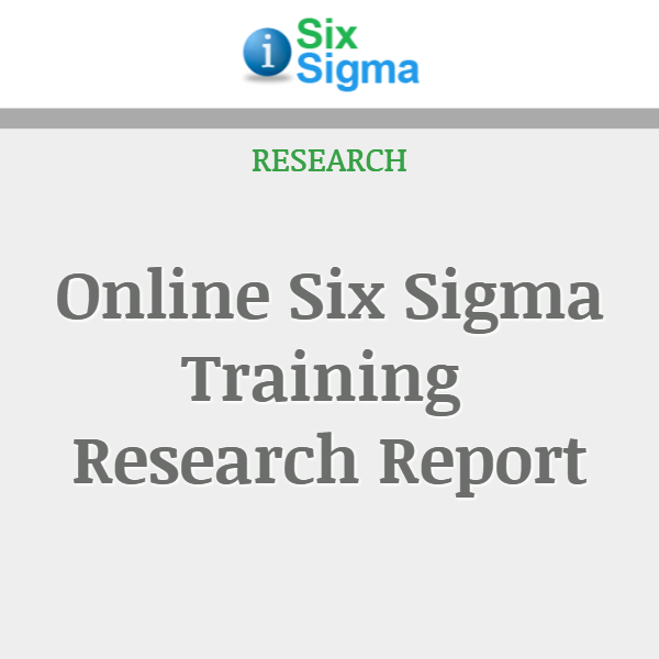 Online Six Sigma Training Research Report