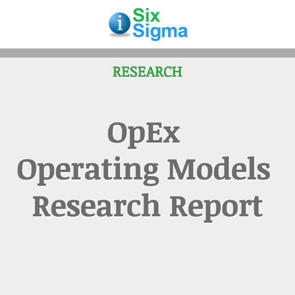 OpEx Operating Models Research Report