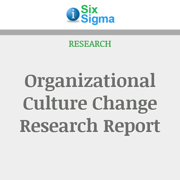 Organizational Culture Change Research Report