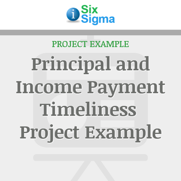 Principal and Income Payment Timeliness Project Example