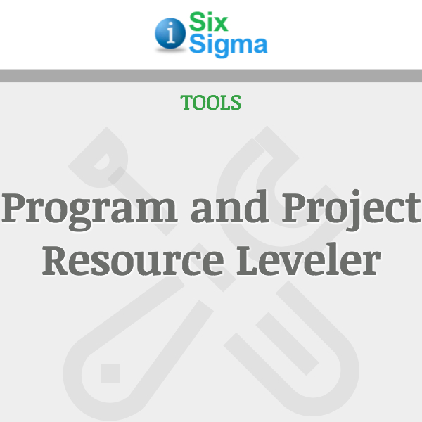 Program and Project Resource Leveler