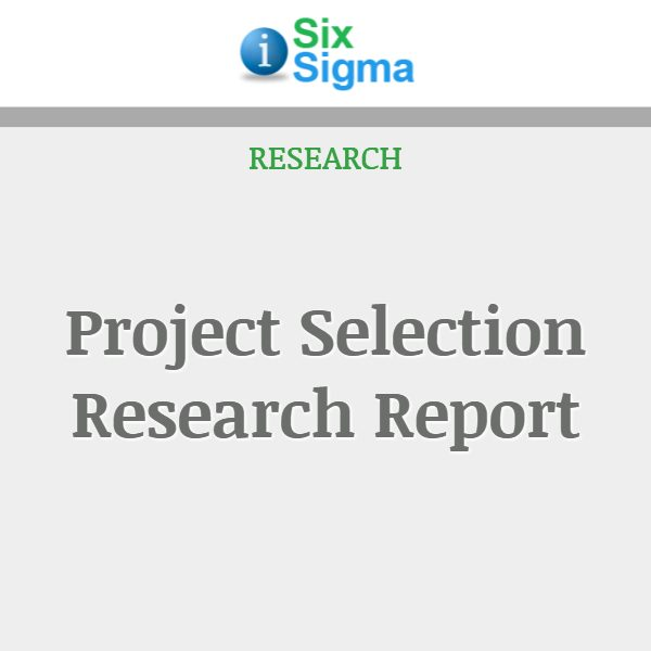 Project Selection Research Report