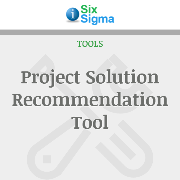 Project Solution Recommendation Tool