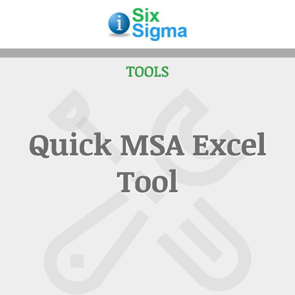 Quick MSA Excel Tool