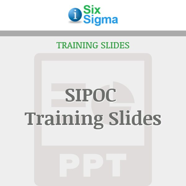 SIPOC Training Slides