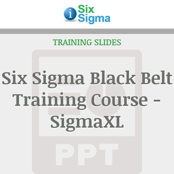 Six Sigma Black Belt Training Course - SigmaXL