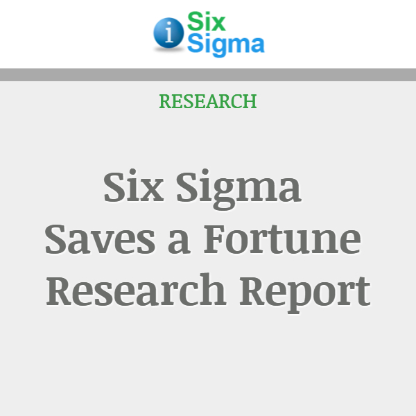 Six Sigma Saves a Fortune Research Report