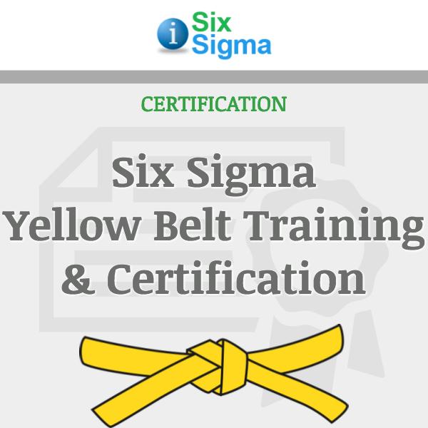 Six Sigma Yellow Belt Training Certification Isixsigma