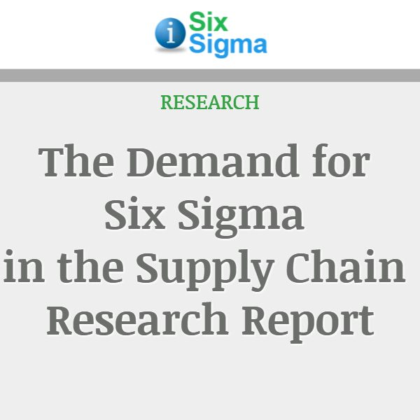 The Demand for Six Sigma in the Supply Chain Research Report
