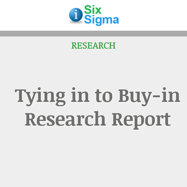 Tying in to Buy-in Research Report