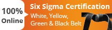Six Sigma Online Certification: White, Yellow, Green and Black Belt