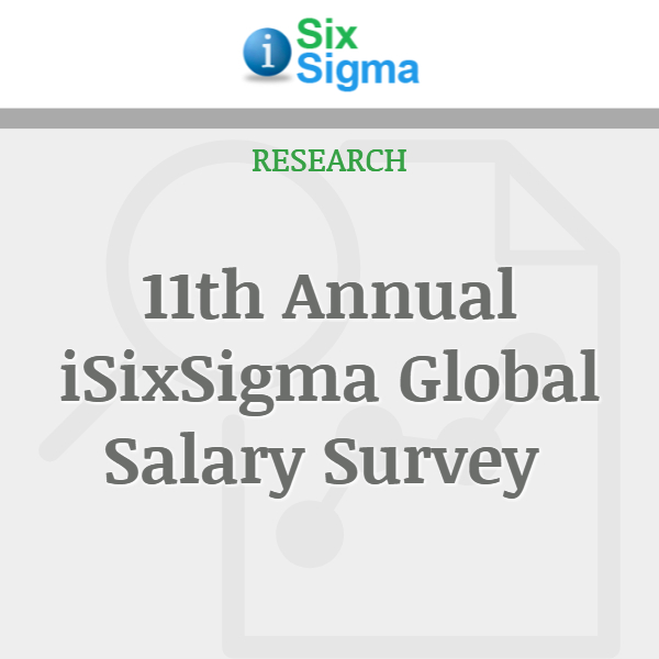 11th Annual iSixSigma Global Salary Survey