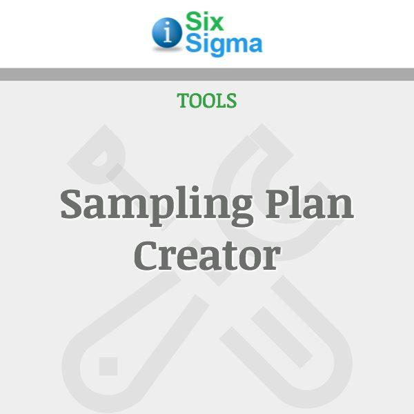 Sampling Plan Creator