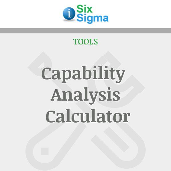 Capability Analysis Calculator