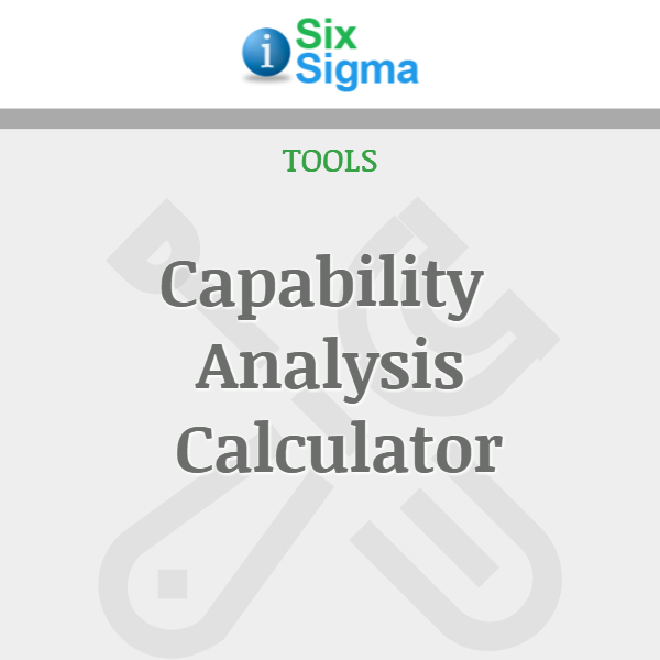 Capability Analysis Calculator