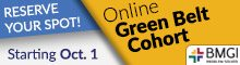 BMGI Green Belt Cohort Begins Oct 1!