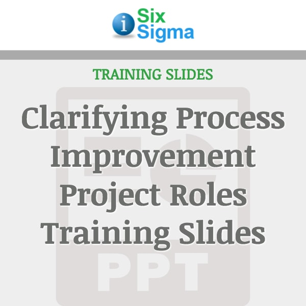 Clarifying Process Improvement Project Roles