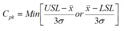Cpk formula