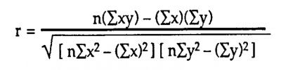 The formula for calculating r