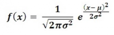 The formula for a normality test