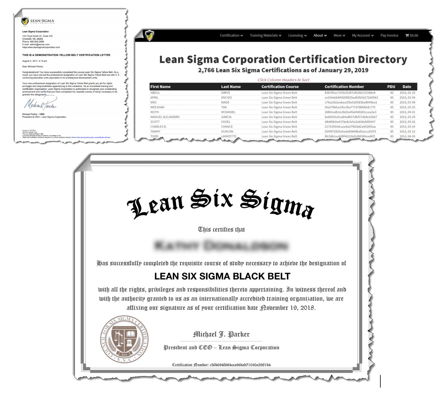 Lean Six Sigma Black Belt Certifications