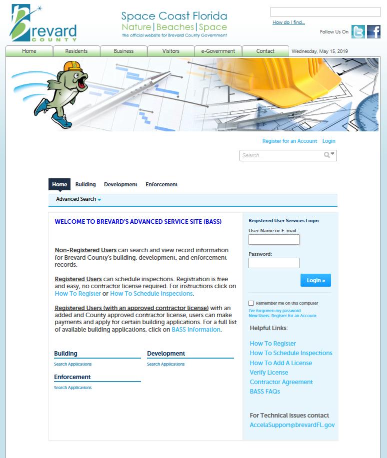 Figure 2: BASS Online Permitting Portal