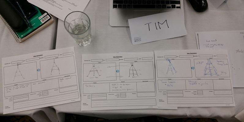 Figure 2: Example Idea Capture Sheets