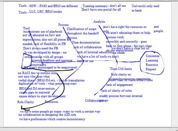 Figure 5: Sample Fishbone Diagram on Digital Whiteboard