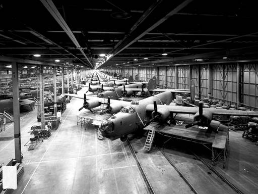 Figure 1: 5S in Practice in 1943 on the Ford Willow Run Production Line